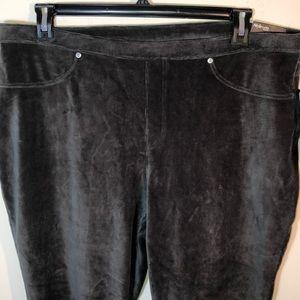 Style & Co Pants - NWT Style & Co. Gray Soft Velour Leggings 3X
